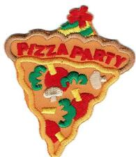 Girl Boy Cub PIZZA PARTY Day SLICE Fun Patches Crests Badges SCOUT GUIDE Event