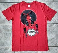 "ORIGINAL MARVEL'S DEADPOOL ""TACOS?!"" T-SHIRT MEN SIZE L RED ROT NEW! NEU!"