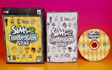 Sims 2: Celebration Stuff (PC, 2007) Game Complete with Key Code on Manual