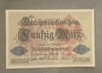 GERMANY / ALLEMAGNE / WW1 50 Mark 1914  P 49b UNC