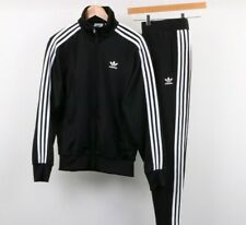 ADIDAS ORIGINALS FIREBIRD TRACKSUIT RETRO BLACK AUTHENTIC MENS Sz S,M,L,XL,2XL