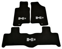 Floor Mats For Hummer H3 Tailored Black Carpets With H3 Emblem 2005-2010 LHD NEW