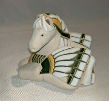 Beautiful Horse Figure Pottery Mosaic Art Signed GT?