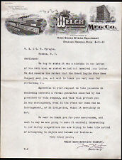 1912 Grand Rapids Mi - Welch Mfg Co - Store Equipment - Tom Thoits - Letter Head