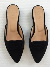 New JCREW Velvet loafer mules Size 8.5 Black
