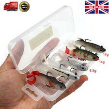 5PCs Artificial Lead Fish Kit Pike Soft Bait Wobbler Fish Jig Fishing Lures