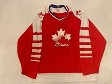 Vintage Team Canada Olympics CCM Maska Hockey Jersey Red M 80s Stitched