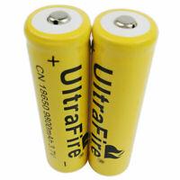 2X 18650 Battery Li-ion 9800mAh 3.7V Rechargeable Batteries for LED Flashlight