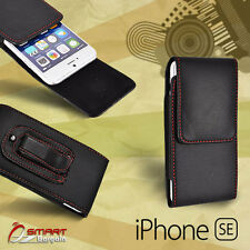 vertic Flip Leather holster Pouch Case Cover with Belt Clip For iPhone SE