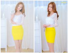 Young Women Seamless Stretch Tight Sexy Bodycon Mini Skirt Short Pencil Dress
