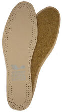 Natural leather cork insole