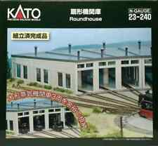 Kato N 3-Stall Concrete Roundhouse Electric Turntable Built-up 23-240