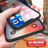 For Apple iPhone 10 10s X Xs 360° Shockproof Slim Case Cover with Tempered Glass
