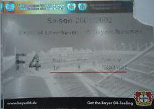 TICKET BL 2001/02 Bayer 04 Leverkusen - Bayern München