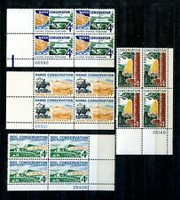 US Stamp Resource Conservation Plate Blocks Mint/NH Soil Water Forest Range sp35
