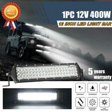 12INCH 400W LED WORK LIGHT BAR FLOOD OFFROAD ATV FOG TRUCK LAMP 4WD White Best