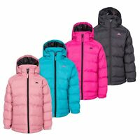 Trespass Amira Girls Waterproof Padded Jacket Casual Coat With Hood