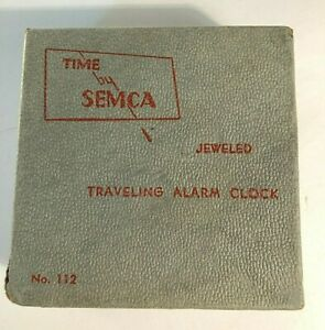 SEMCA JEWELED TRAVELING ALARM CLOCK BOX NO 112 - BOX ONLY