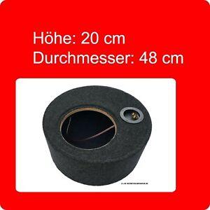 """Reserverad Gehäuse bezogen D x H 48cm x 20cm ca. 25 Liter für 25cm / 10"""" Woofer"""