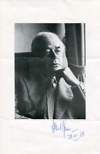 Albert Speer ARCHITECT autograph, signed photocopy