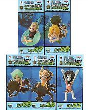 Banpresto One Piece WCF Ryugu Kingdom Vol.2 Set of 5 Zoro+Sanji+Camie+Usab+Brook