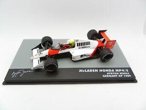 Mclaren Honda MP4/5 Ayrton Senna #1 Germany Gp 1989 1/43 IXO Atlas F1 1