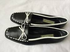Carysama Club Casual Leather Black / White Shoes Size 8M New