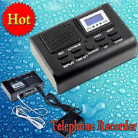 LCD Display Phone SD Card Slot Mini Digital Telephone Call Voice Recorder +8GB