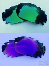 GREEN & ENGRAVED PURPLE  MIRROR VENTED OAKLEY JAWBONE RACING JACKET LENSES