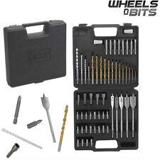 57 Pcs Drill Bit Set Wood Metal Masonry & Phillips Flat Slot Torx Headed bits