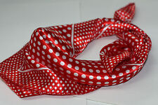 Red Polka Dot /  Rockabilly Satin Scarf / Bandana  Retro  50's-60's