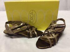 Circa Joan & David Women's Wedge Sandals, Natural/ Chocolate, 5.5 M