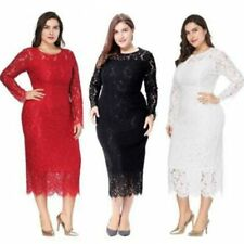Plus Size Elegant Formal Evening Dresses Full Lace Cocktail Ladies Party Gowns