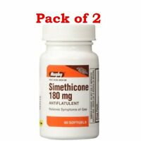 Major Simethicone 180mg Softgels Antiflatulent Gas Relief 60 Count (Pack of 2)