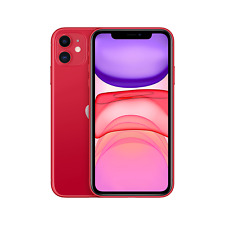 "Apple iPhone 11 Red 6.1"" 64GB 4G Unlocked & SIM Free MWLV2B/A"