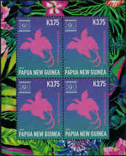 2015 PAPUA NEW GUINEA Singapore EXPO Bird of Paradise Sheetlet MNH