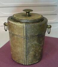Pot à tabac bois cuir années 50...