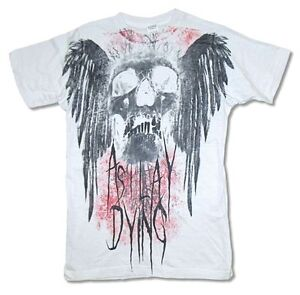 As I Lay Dying Hot Wings Mens White T Shirt New Official Adult