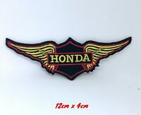 Honda Wing F1 Biker logo Iron on Sew on Embroidered Patch applique #1407