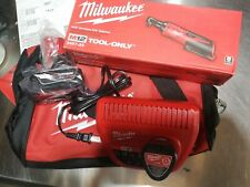 "Milwaukee M12  3/8"" ratchet kit 4.0AH & 1.5ah batteries  2457-21 XC with bag NEW"