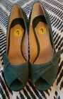 TONY BIANCO Teal Green Leather Suede Pumps Stilleto High Heels Size 7