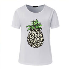 US Womens Summer Loose T Shirt Short Sleeve Blouse Ladies Casual Tops Plus Size