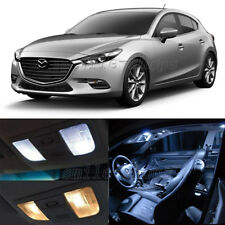 9pcs White LED Interior Bulbs + License Plate Lights Fit For 2004-2017 Mazda 3