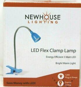 Newhouse Lighting 21 in Blue LED Clamp Desk Lamp Flex Light NIB