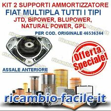 KIT 2 SUPPORTI AMMORTIZZATORE FIAT MULTIPLA NATURAL POWER BIPOWER BLUPOWER JTD