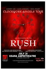 Rush : Clockwork Angels Tour Concert Poster 2012 12x18