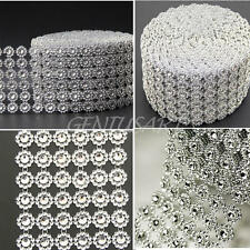 Diamond Mesh Wrap Ribbon Roll Rhinestone Wedding Floral Decor Party Supplies New