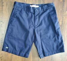 LACOSTE Chino Mens Flat Front Bermuda Shorts Logo Blue Size US 30