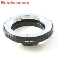 Macro AF Confirm Minolta MC MD Mount Lens to Nikon F Camera Adapter D750 D3200