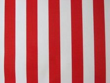 RED WHITE CABANA XMAS CIRCUS STRIPE USA FLAG OILCLOTH VINYL SEW CRAFT FABRIC BTY